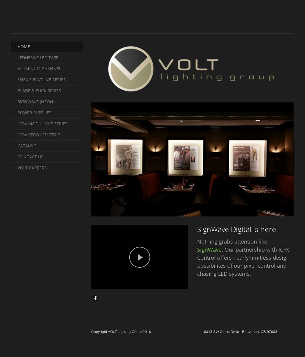 Volt Lighting Group Website History Good Ideas