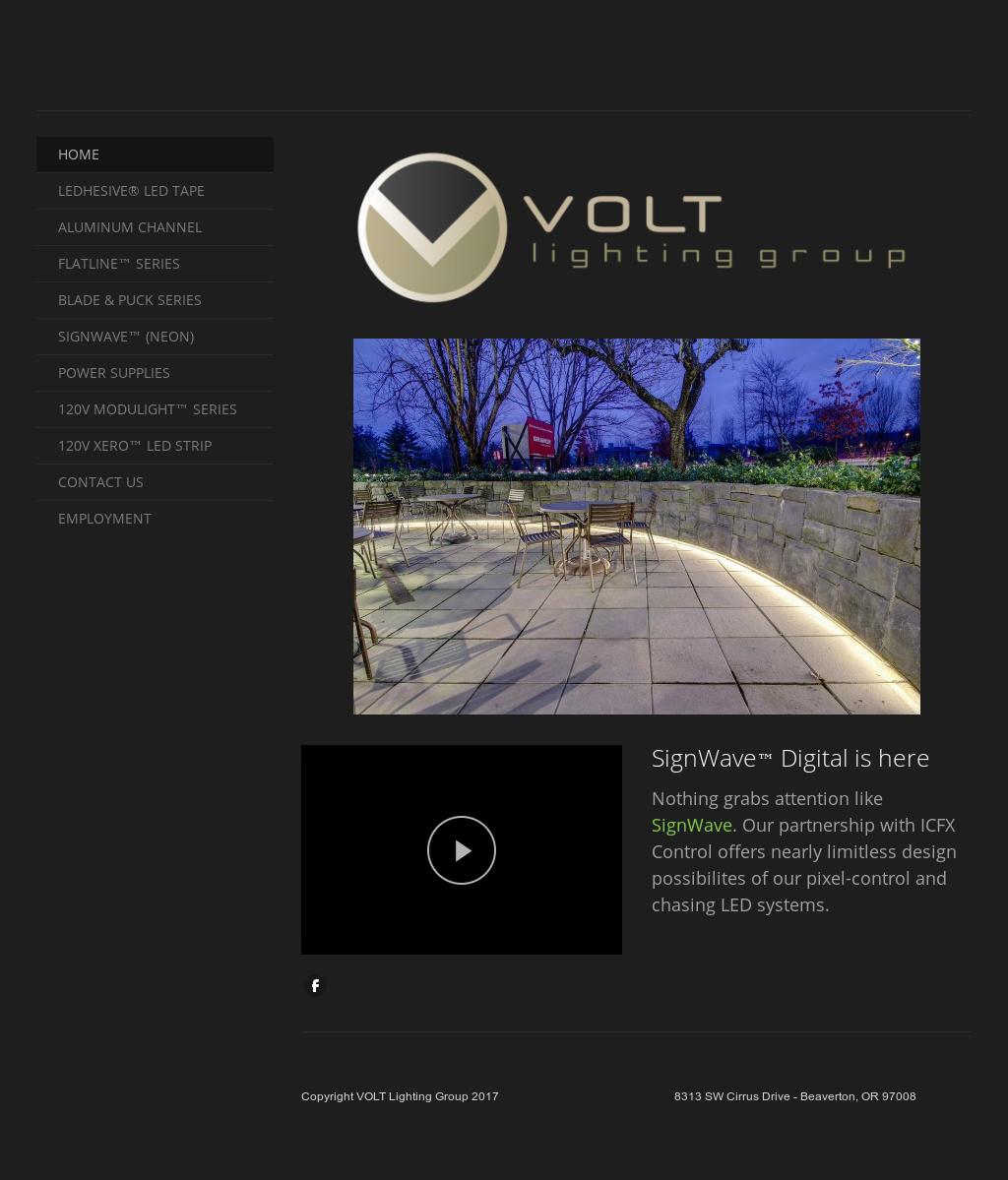 Volt Lighting Group Website History Design