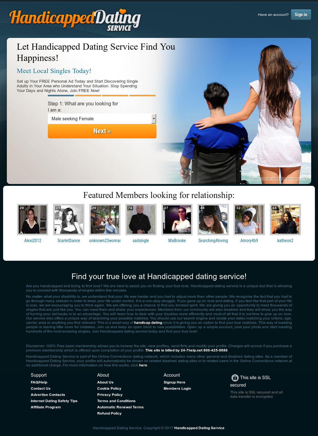 handicapped online dating