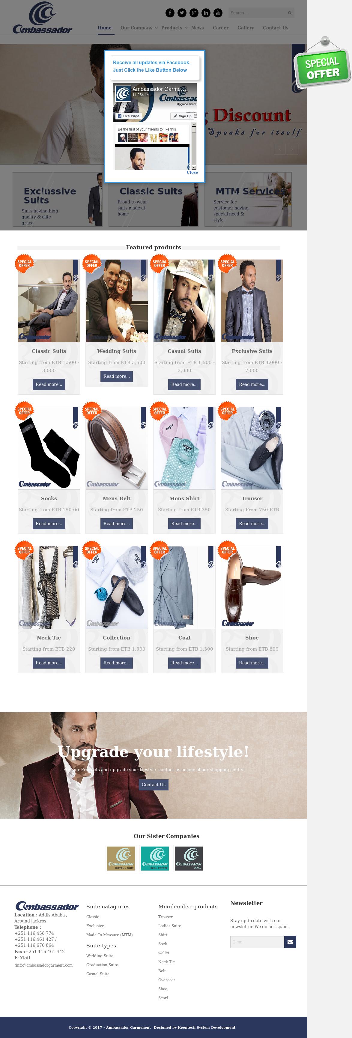 Ambassador Garment Competitors, Revenue and Employees