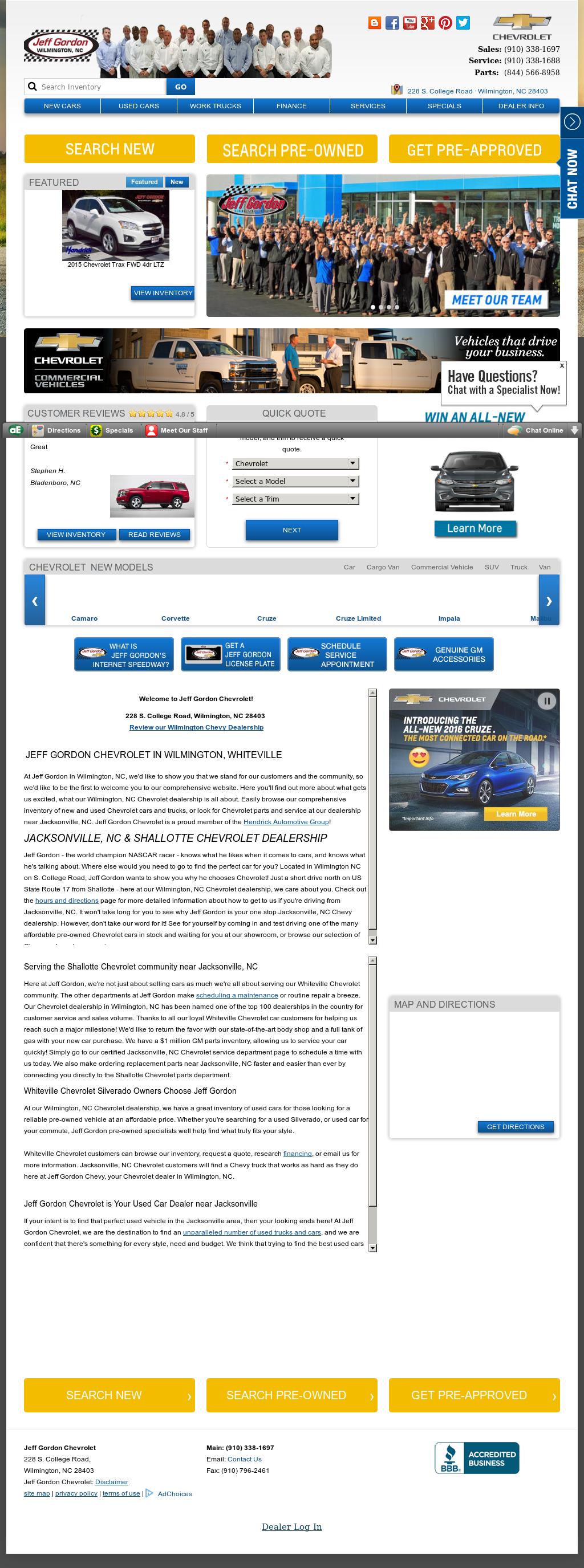 Jeff Gordon Chevrolet Competitors Revenue And Employees
