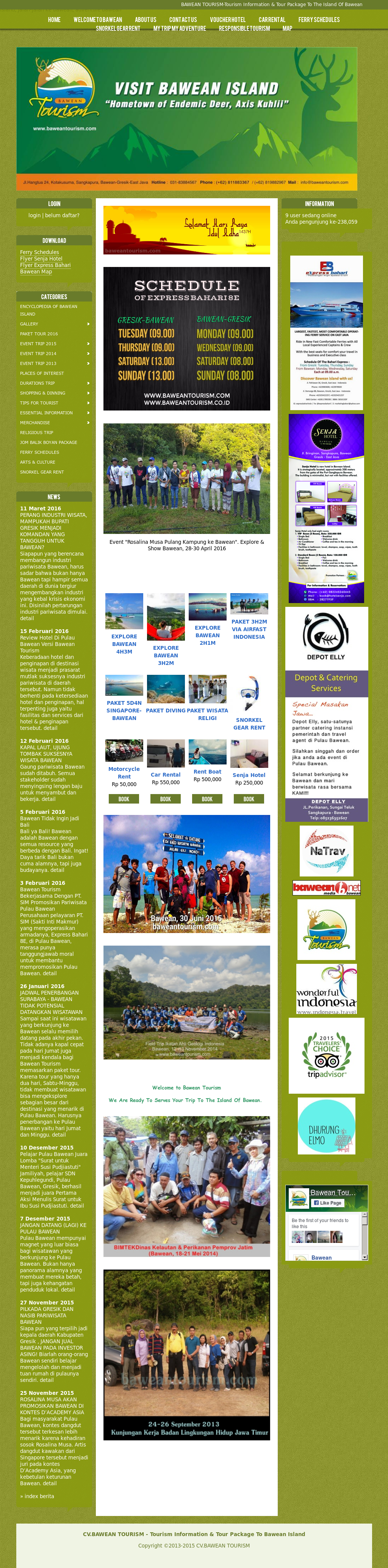 Bawean Tourism Competitors Revenue And Employees Owler Company Kapal Otok Surabaya Profile
