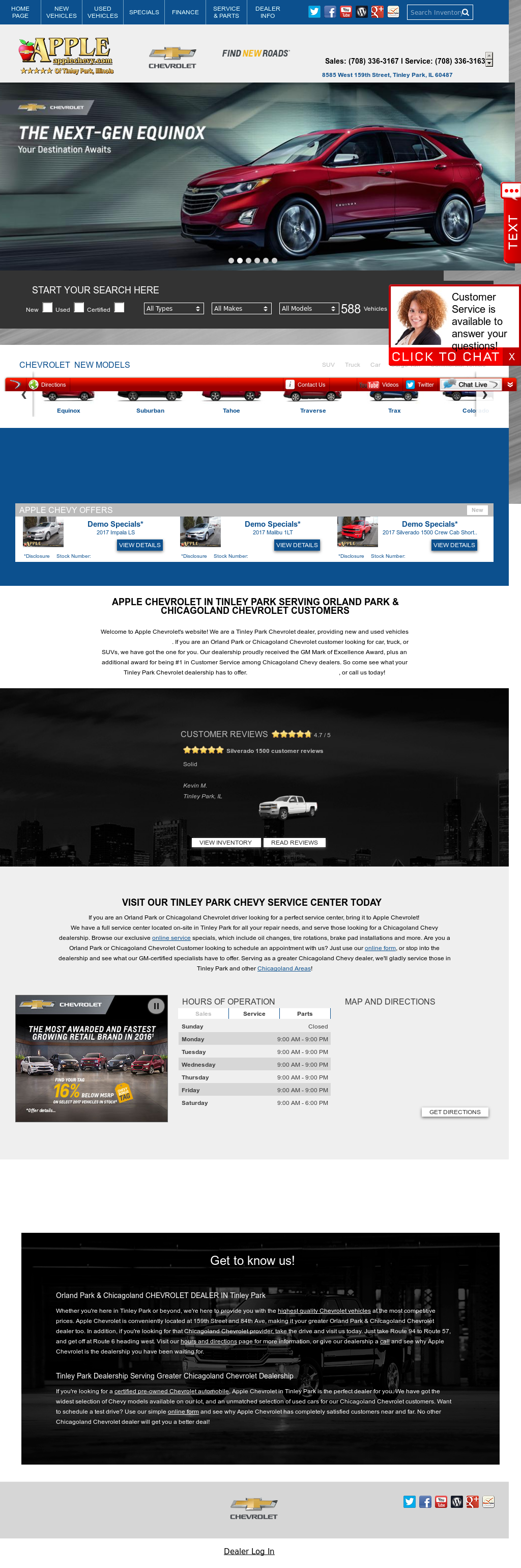 Apple Chevrolet Website History