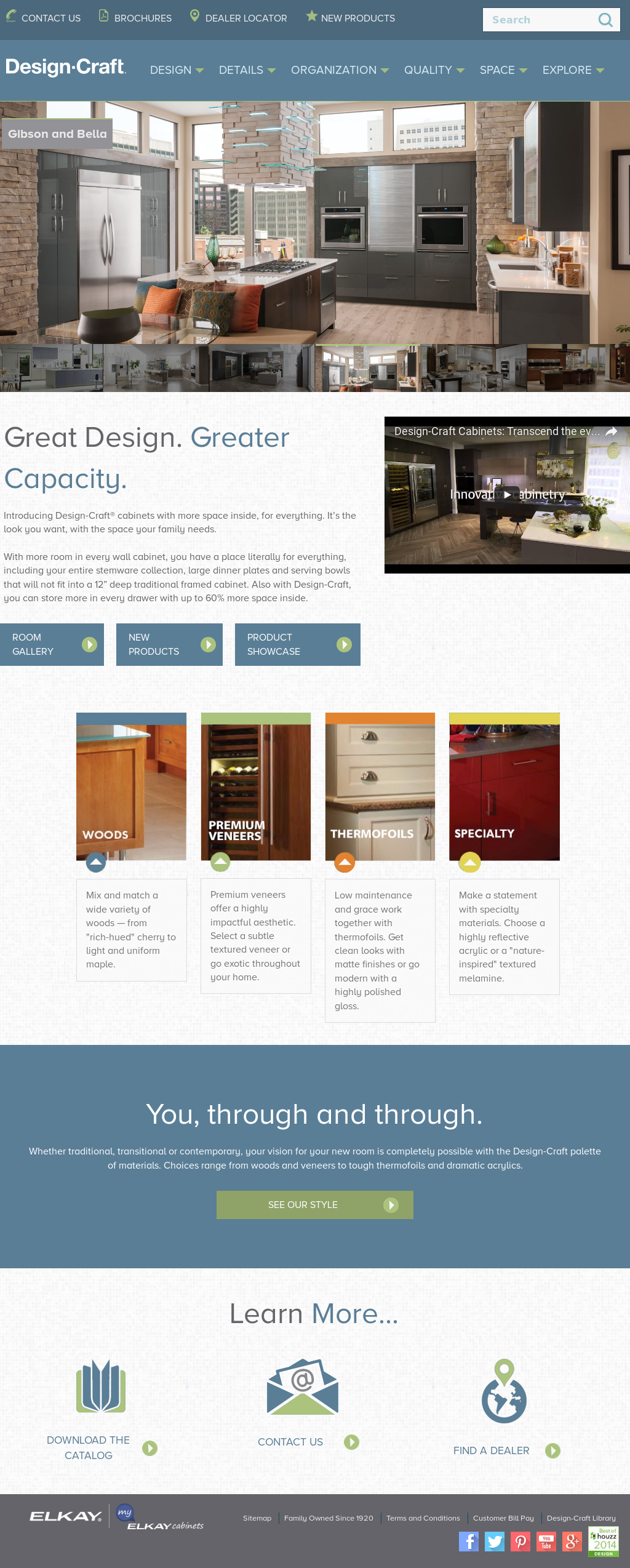 Design Craft Cabinetryu0027s Website Screenshot On Mar 2017