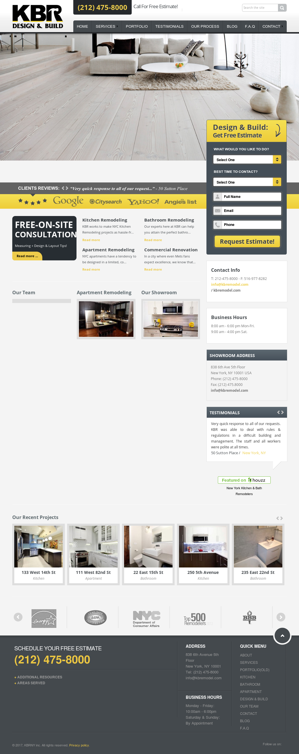 Kbr Kitchen And Bath Remodeling Nyc Website History