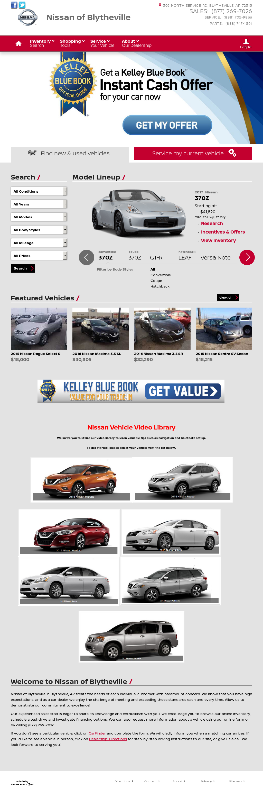 Exceptional Carlock Nissan Blytheville Website History