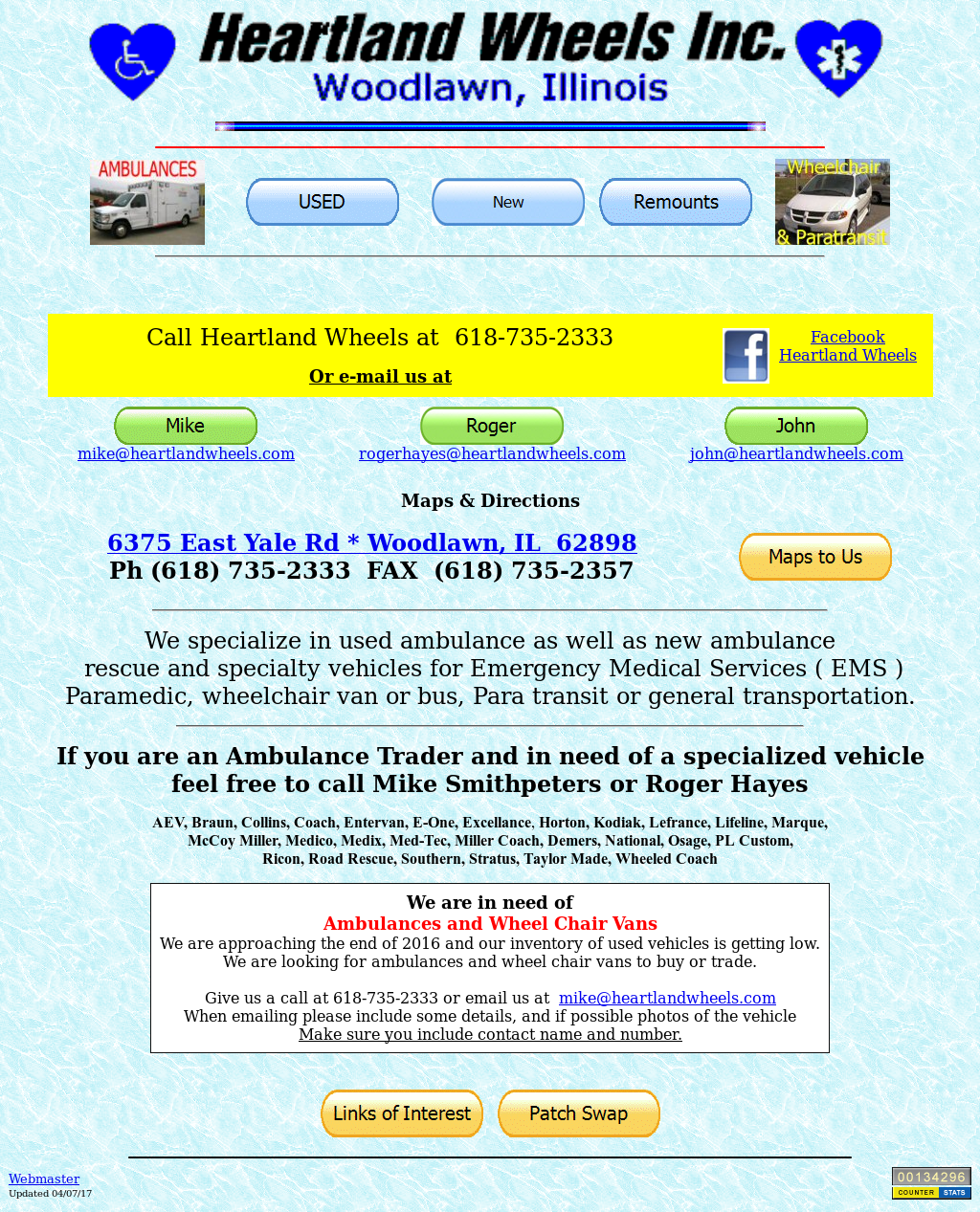 Heartland Wheels Inc  - Ambulance Sales Competitors, Revenue