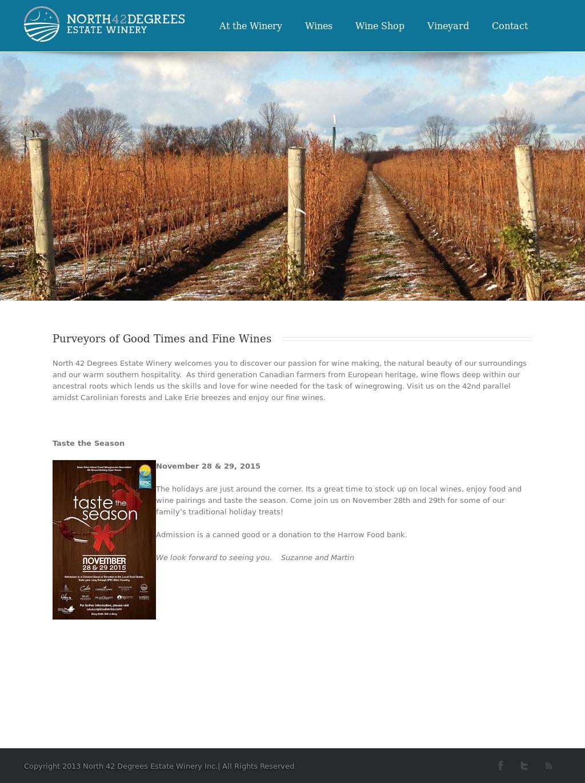 North 42 Degrees Estate Winery Competitors Revenue And
