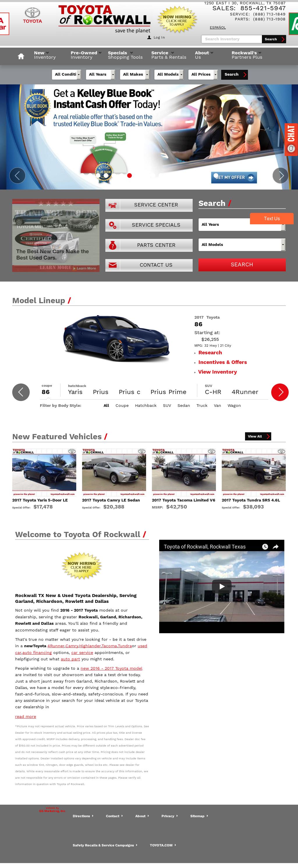 Toyota Of Rockwall Website History