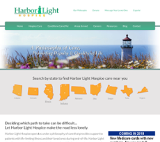 Nice Harbor Light Hospice Website History