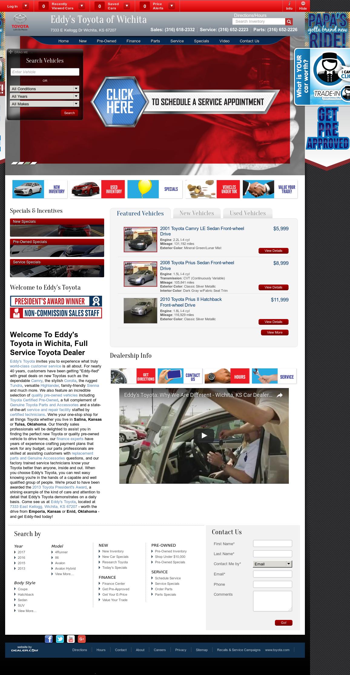 Eddyu0027s Toyota Website History
