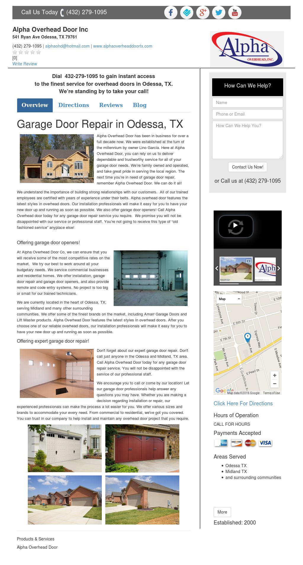 Garagedoorrepairodessatx Competitors, Revenue And Employees   Owler Company  Profile