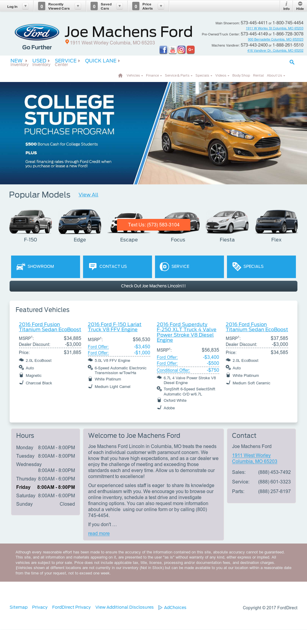 Joe Machens Ford Competitors Revenue And Employees