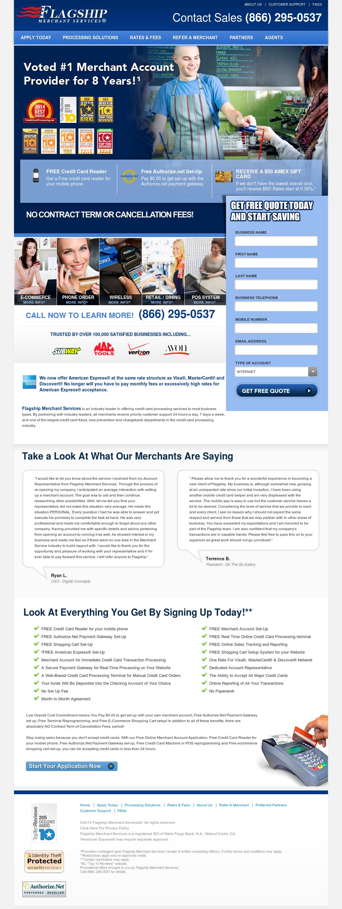 Flagship Merchant Services Competitors, Revenue and