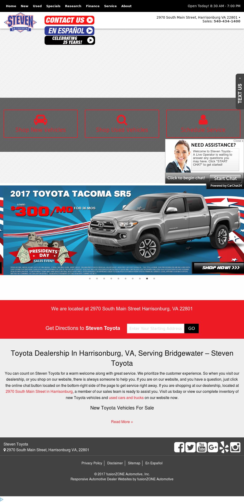 Steven Toyotau0027s Website Screenshot On Feb 2017