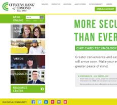 Citizens Bank of Edmond website history