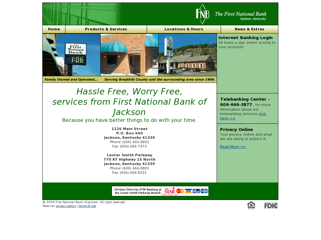 First National Bank of Jackson Competitors, Revenue and