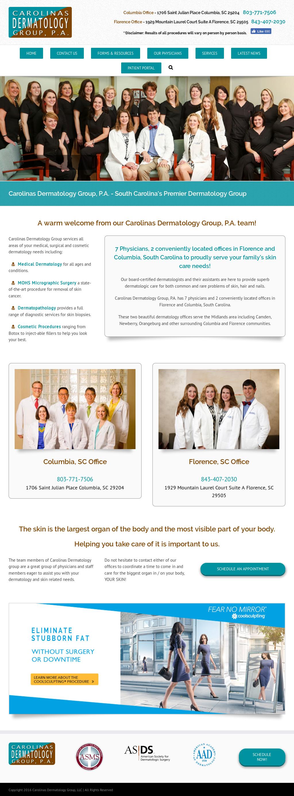 Carolinas Dermatology Group Competitors, Revenue and