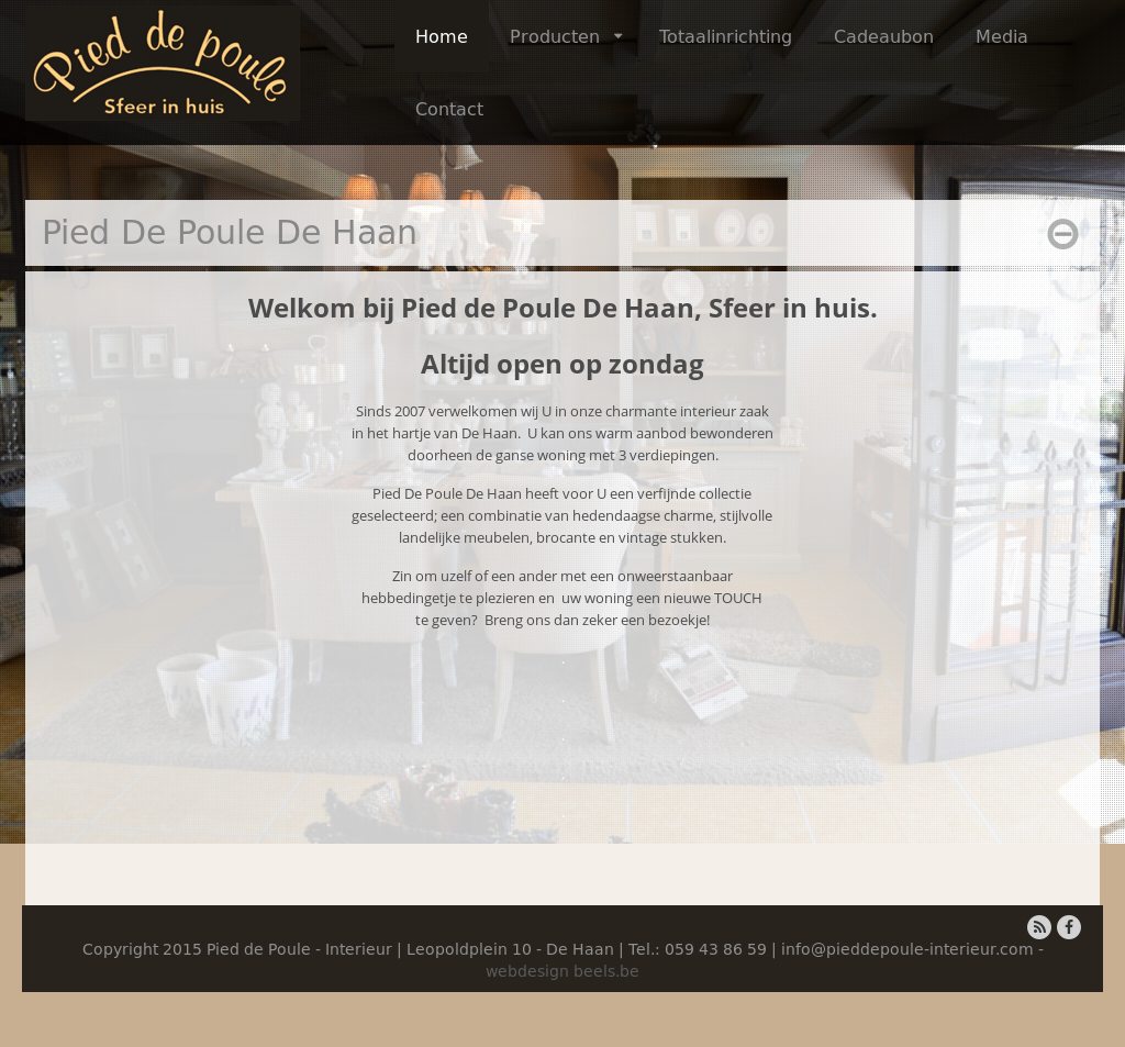 pied de poule interieur website history
