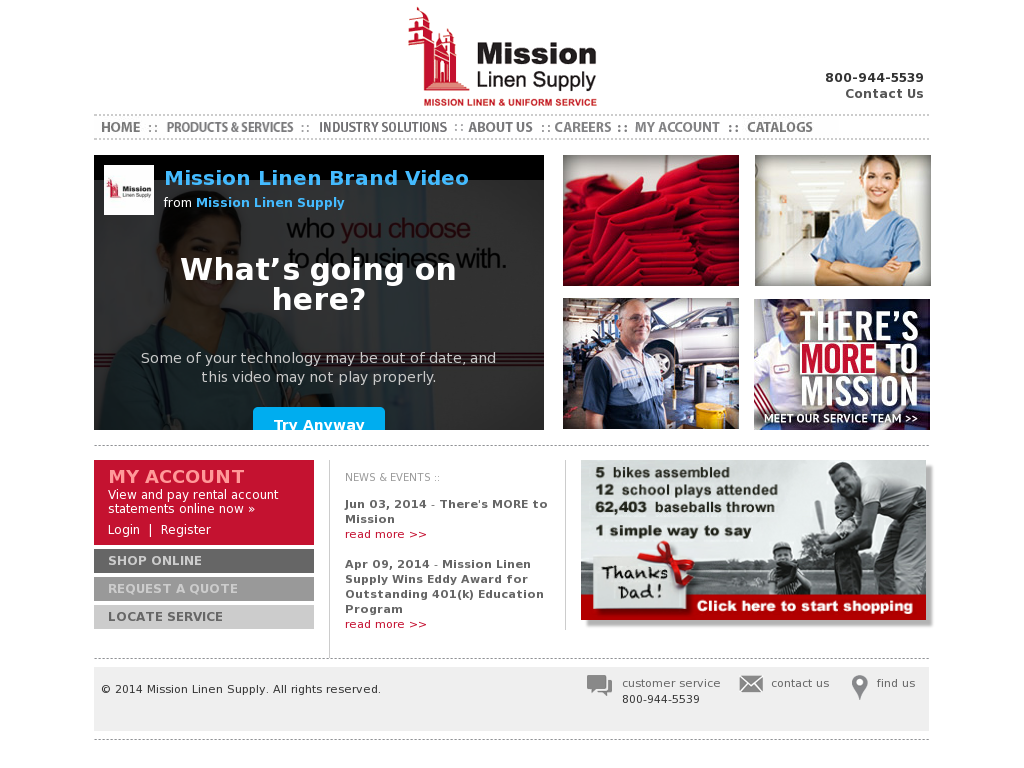 Mission Linen Supply Competitors, Revenue and Employees