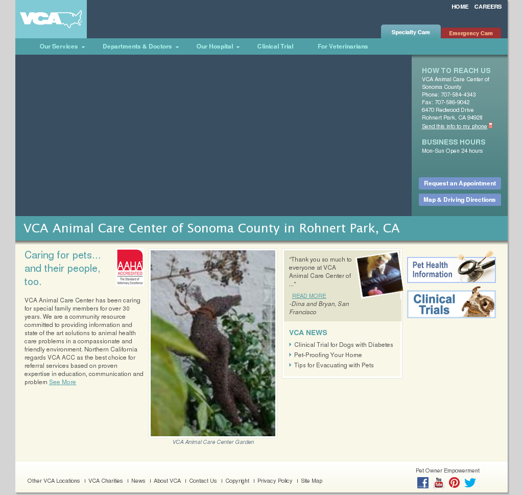 VCA Animal Care Center Competitors, Revenue and Employees