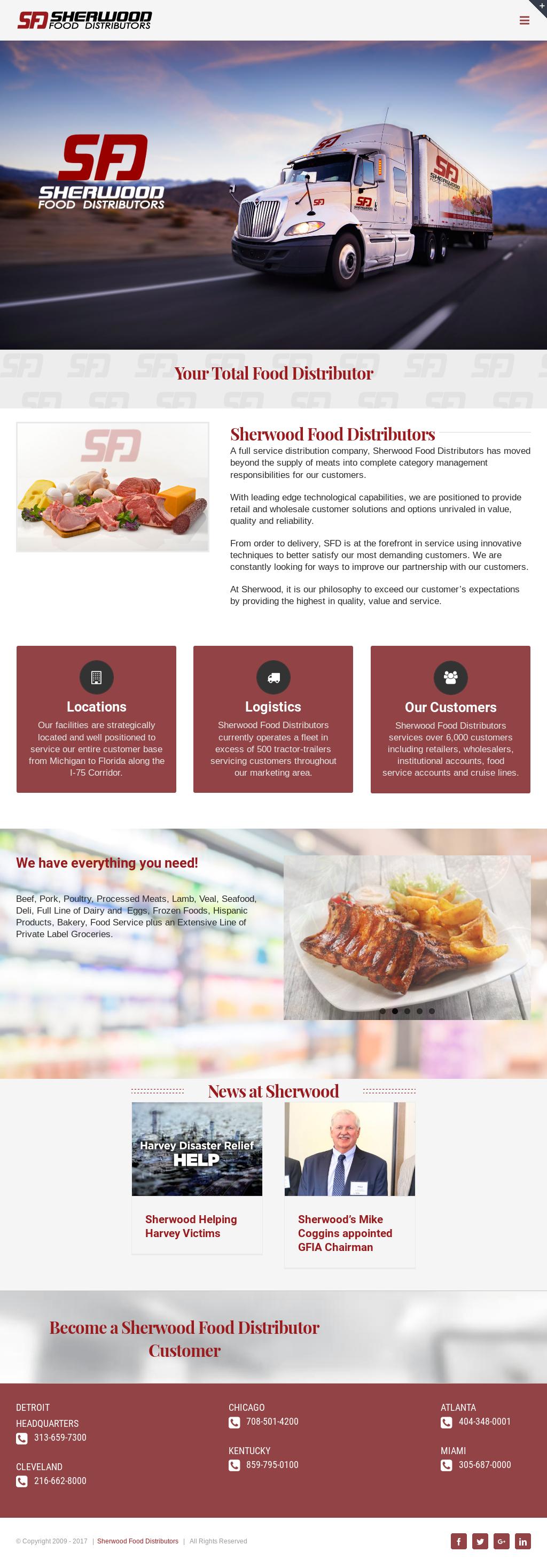 Sherwood Food Distributors Competitors, Revenue and