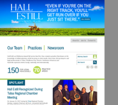 Hall Estill Hardwick Gable Golden website history