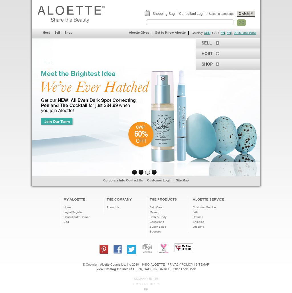 Aloette Cosmetics Competitors Revenue Employees