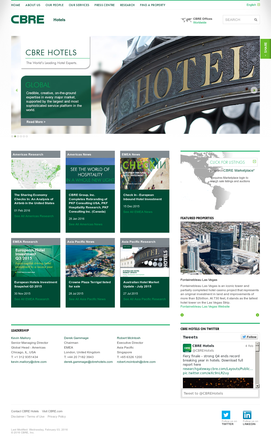 CBRE Hotels Competitors, Revenue and Employees - Owler Company Profile