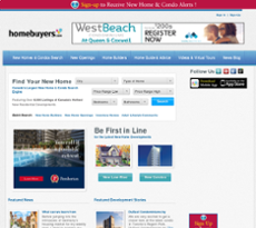 New In Homes website history