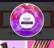Tarte website history