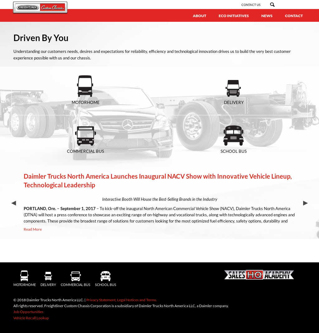 Freightliner Custom Chassis Competitors, Revenue and Employees