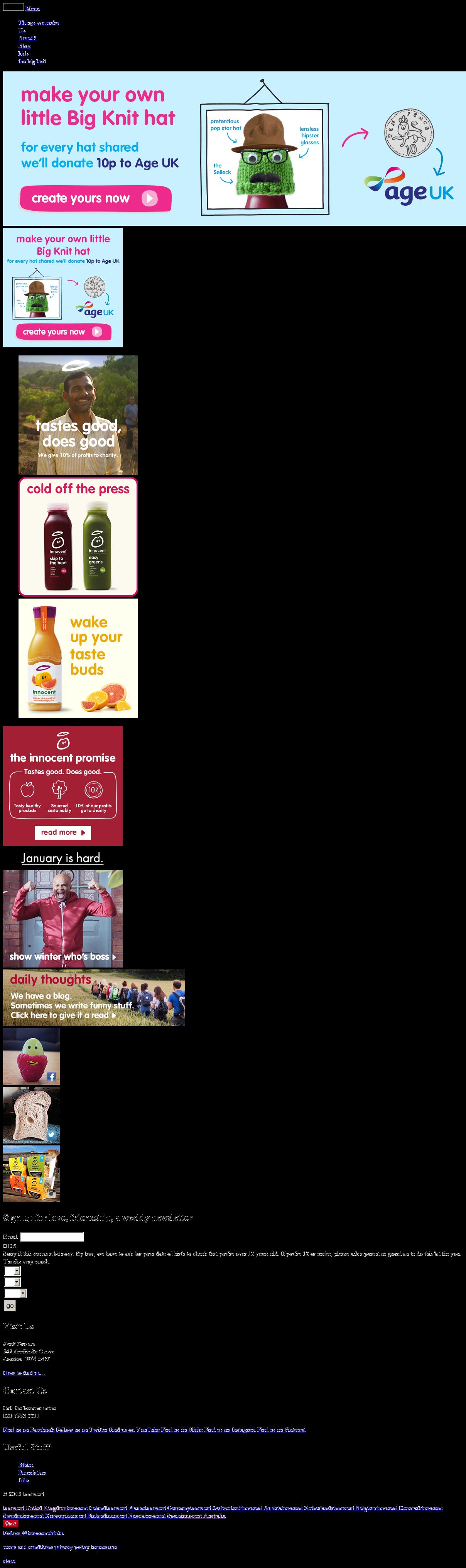 innocent drinks market segmentation