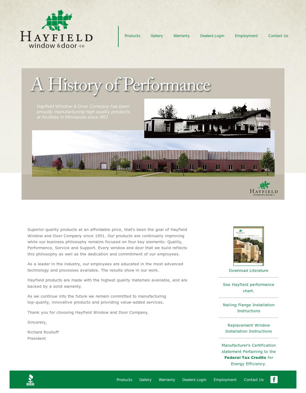 Bon Hayfield Window And Door Website History
