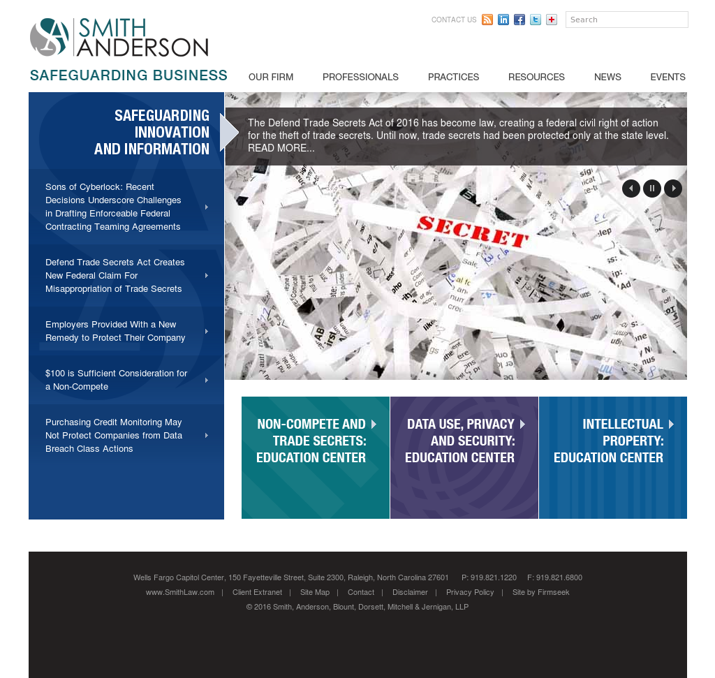 Smith Anderson Law Firm Competitors, Revenue and Employees
