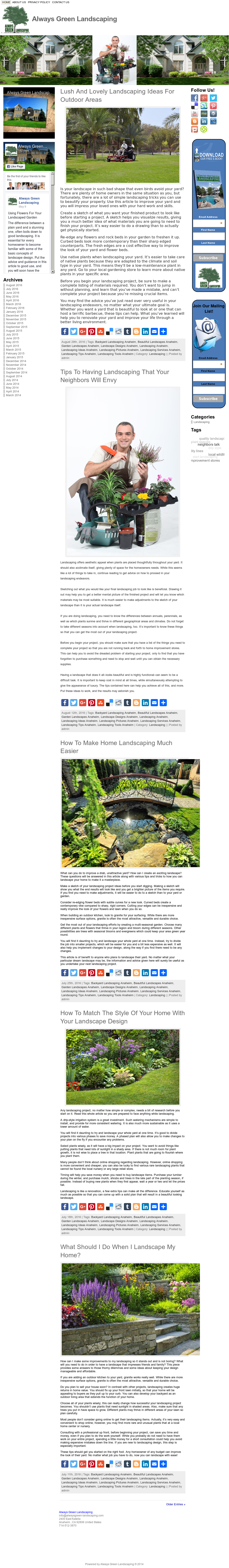 Always Green Landscaping S Competitors Revenue Number Of Employees Funding Acquisitions News Owler Company Profile