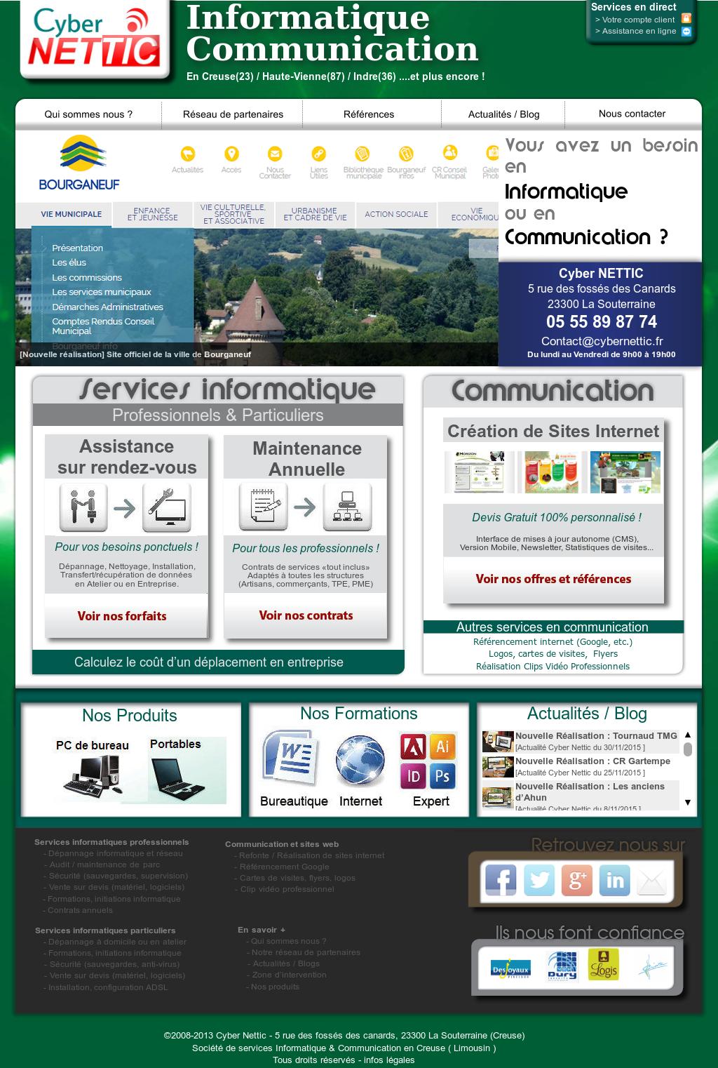 Cyber Nettic Informatique Et Communication Limousin Competitors Revenue And Employees