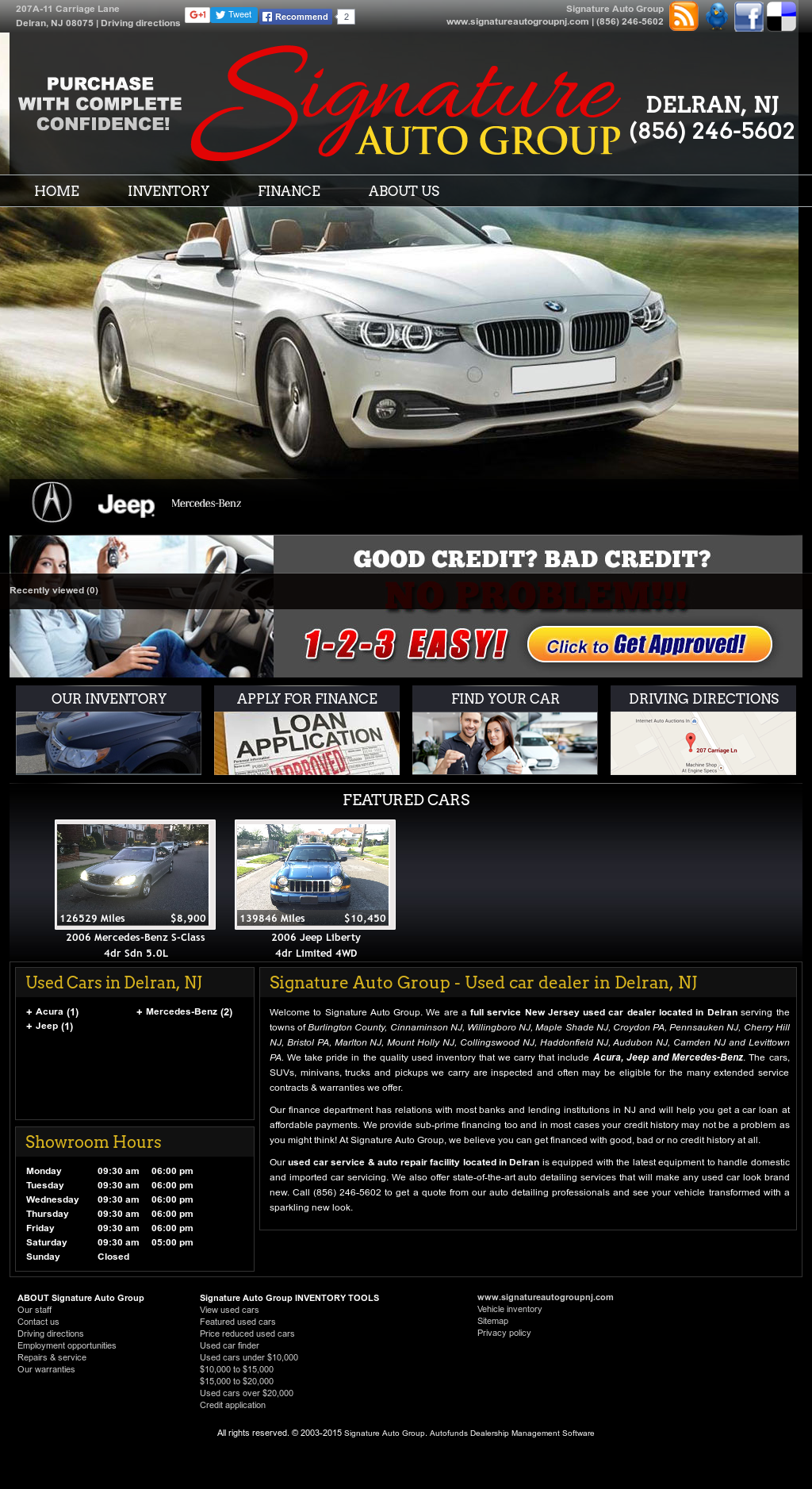 Signature Auto Group >> Signature Auto Group Autofunds Dealership Management