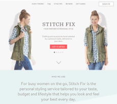Stitch Fix website history