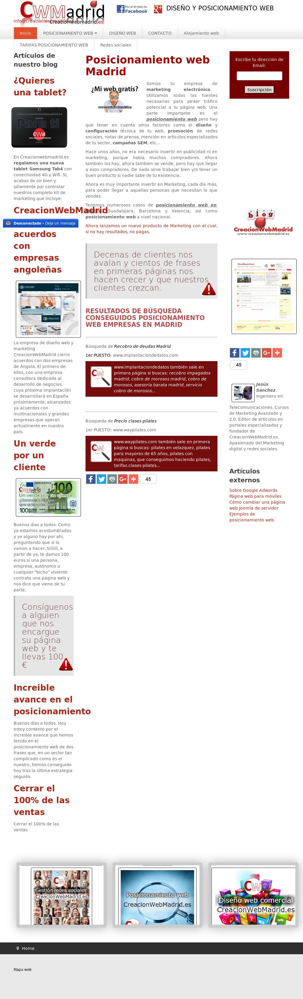 Creacionwebmadrides Competitors Revenue And Employees