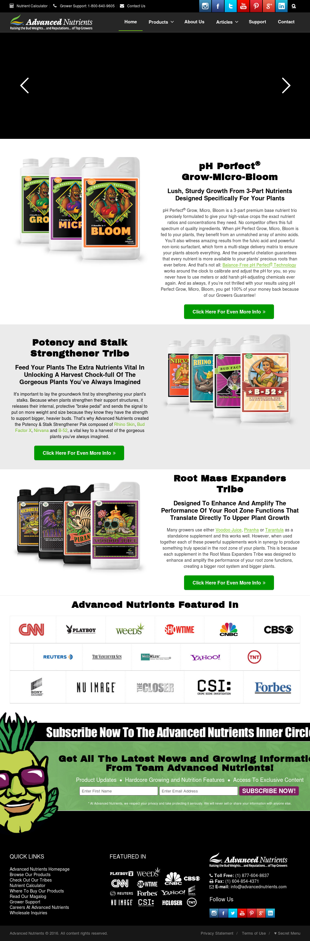 Advanced Nutrients Competitors, Revenue and Employees