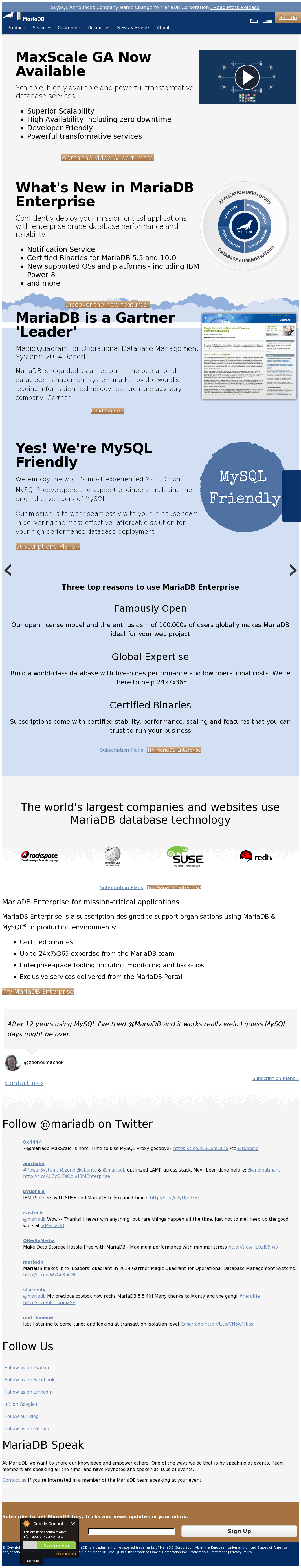 MariaDB Competitors, Revenue and Employees - Owler Company