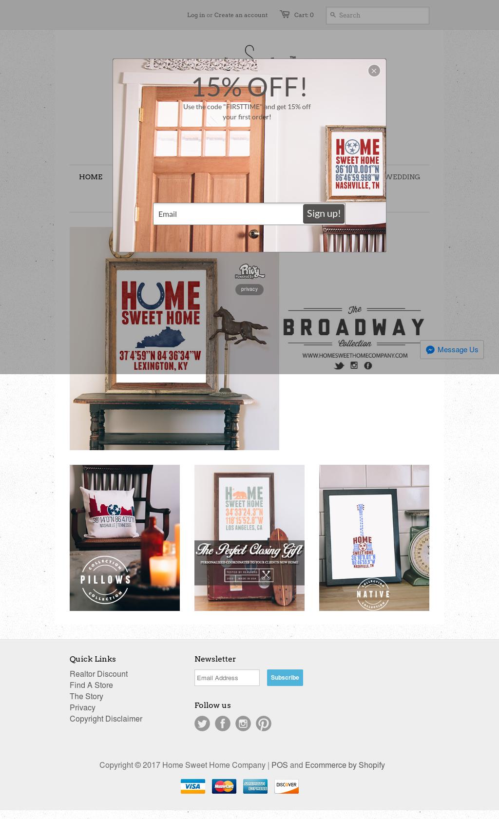 Home Sweet Home Companyu0027s Website Screenshot On Mar 2017
