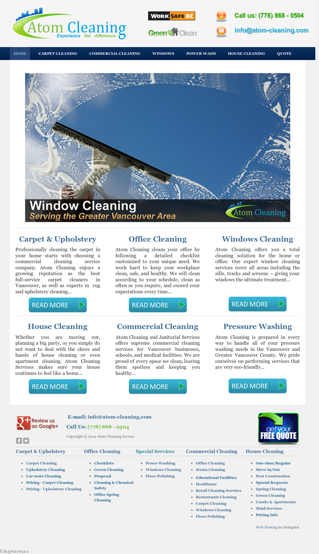 Atom Cleaning Service Competitors, Revenue and Employees