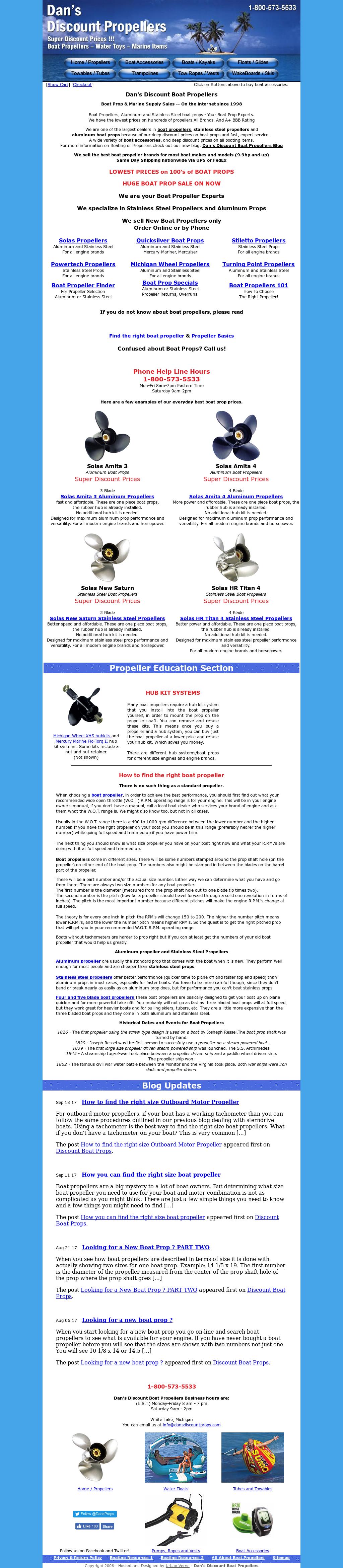 Dan's Discount Boat Propellers Competitors, Revenue and