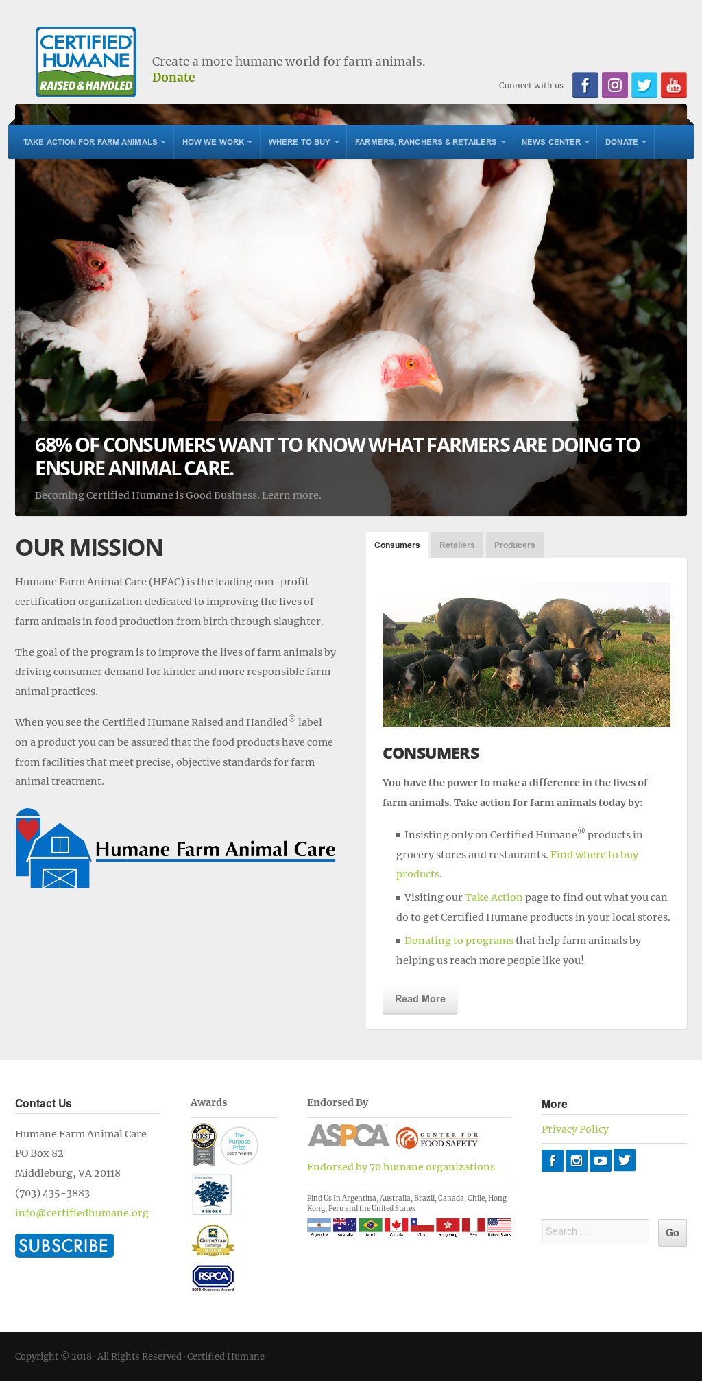 Humane Farm Animal care Competitors, Revenue and Employees