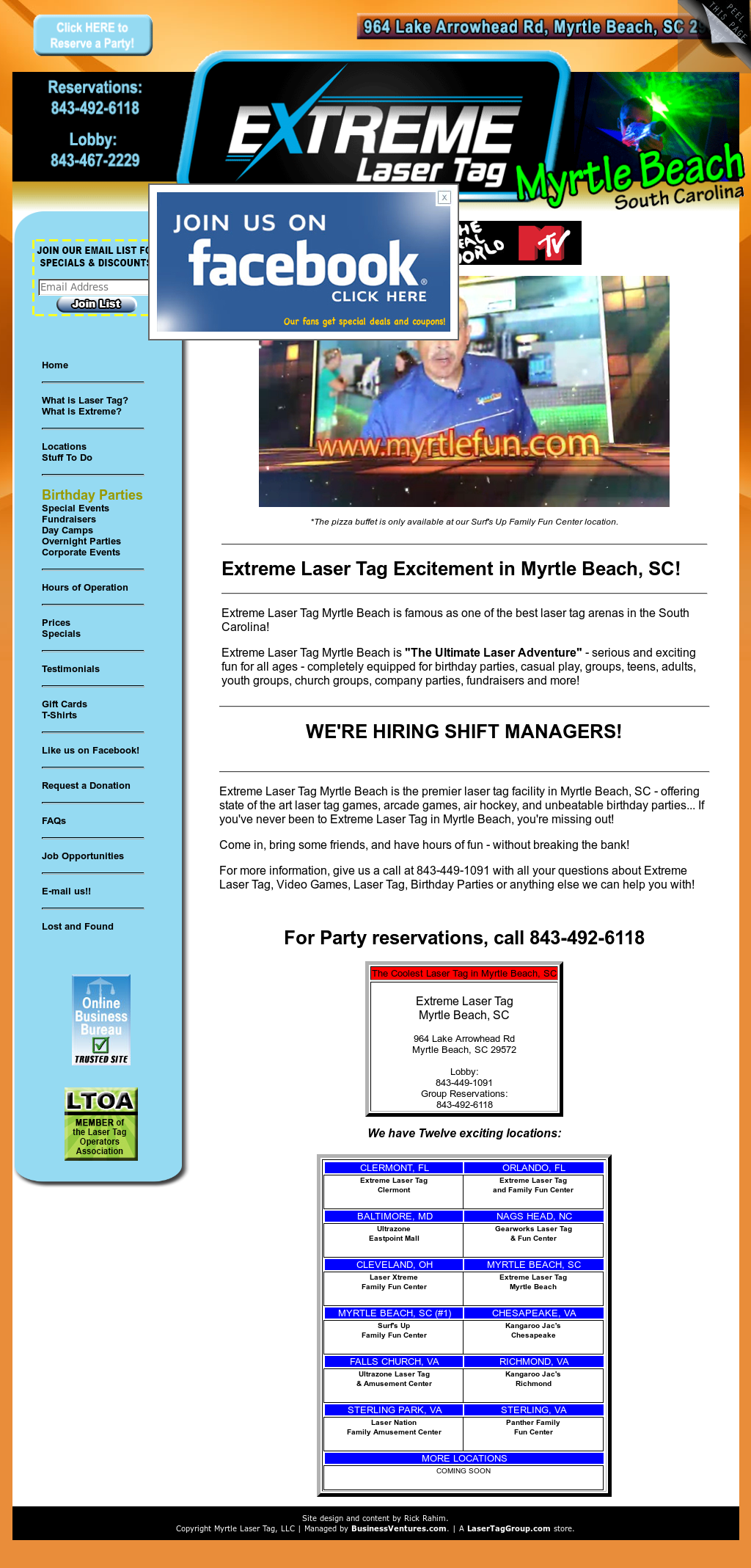 Extreme Laser Tag Myrtle Beach Competitors, Revenue and