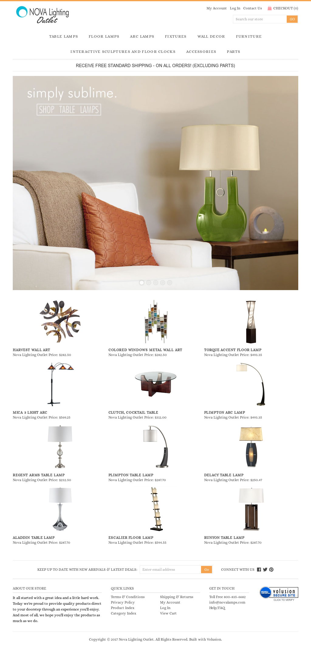 Nova Lighting Outlet Website History