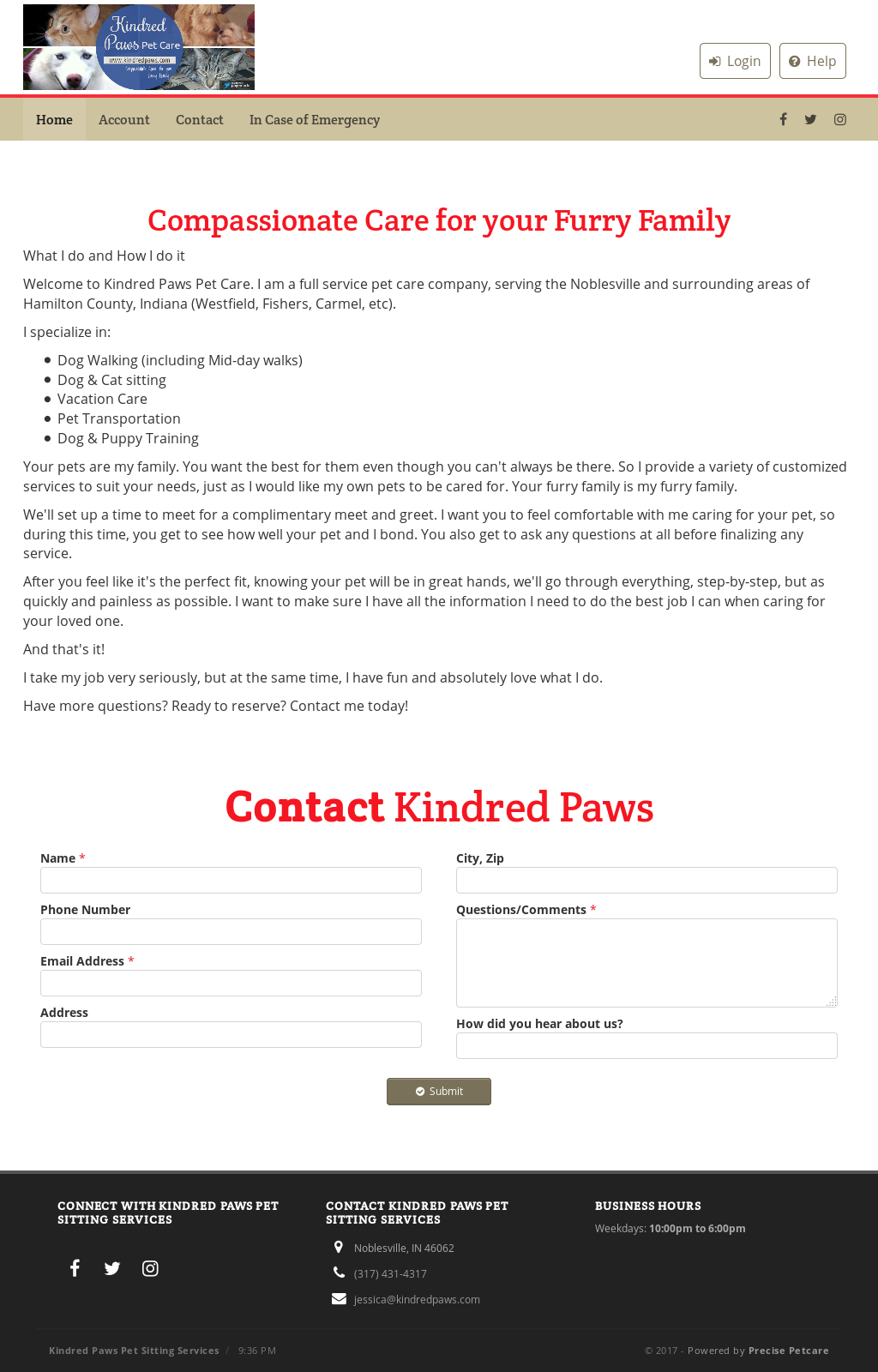 Kindred Paws Pet Care Competitors, Revenue and Employees