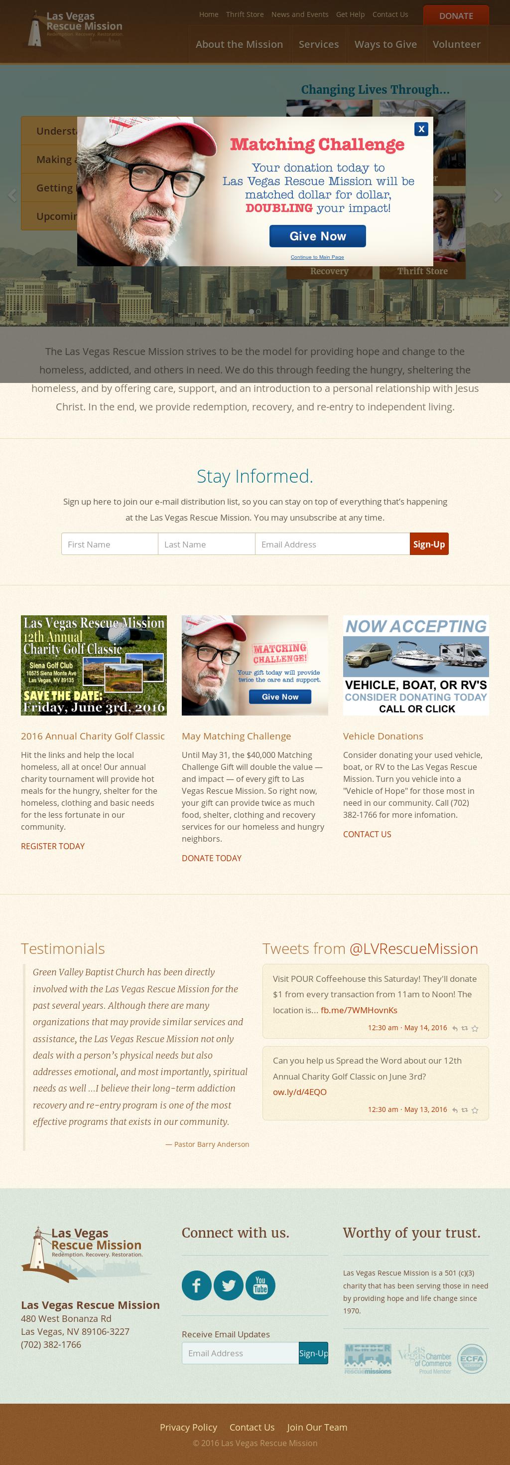 Las Vegas Rescue Mission Competitors, Revenue and Employees